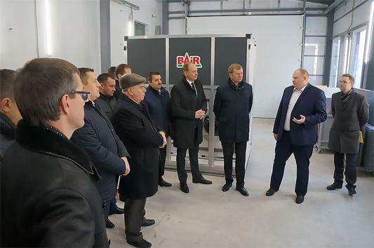 Завод ООО «Баир Вест» посетил губернатор Могилевской области