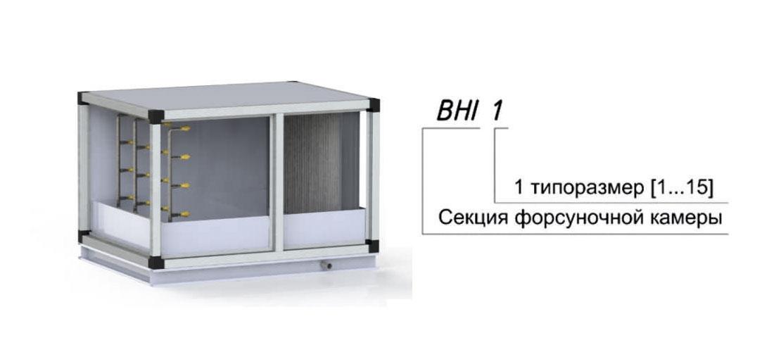 Секция форсуночной камеры для центрального кондиционера